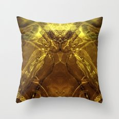Cobra de cristal Throw Pillow