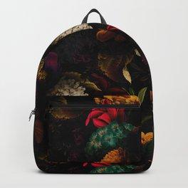 Midnight Hours Dark Vintage Flowers Garden Backpack