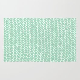 Hand Knit Mint Rug