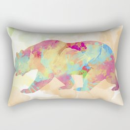 Abstract Bear Rectangular Pillow