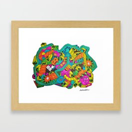 Boing Framed Art Print