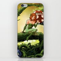 poison ivy iPhone & iPod Skins featuring Poison Ivy by Andrew Sebastian Kwan