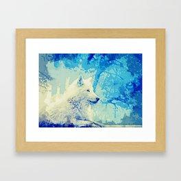 beautiful wolf art Framed Art Print