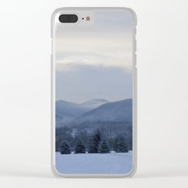 Winter Seclusion Clear iPhone Case