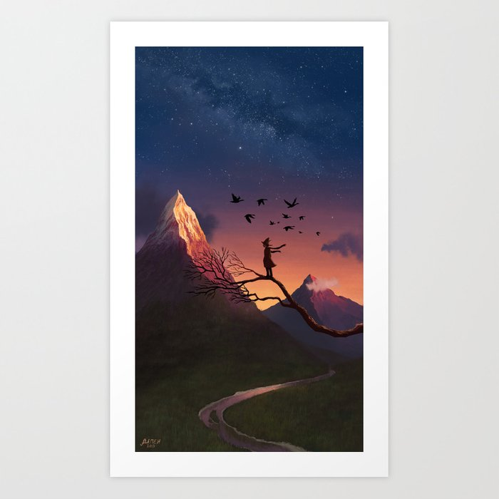 Enjoying the View Art Print
