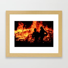 Let the Fire Burn it All Away - Bonfire Framed Art Print