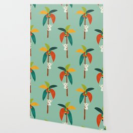 Koala on Coconut Tree Wallpaper