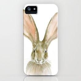 Jack Rabbit Watercolor iPhone Case