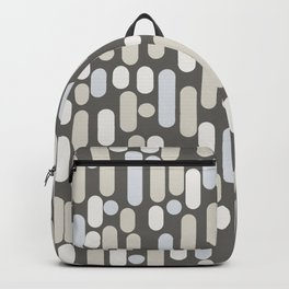 Morningside Heights Midcentury Modern Abstract Pattern in Gray Brown, Beige, Cream, and Light Silver Gray Backpack