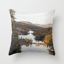 Looking Down at Twin Lakes Throw Pillow