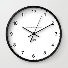Type/Face 01 Wall Clock