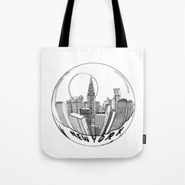 THE CITY of New York in a Suspended Bowl . Artwork Tote Bag