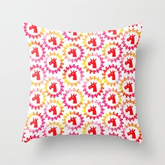 Color Me Red Unicorn Throw Pillow