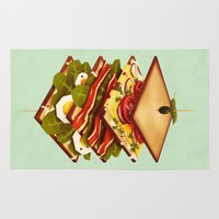 yetiland Area & Throw Rugs featuring Sandwich by Yetiland