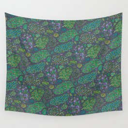 Nugs in Green Wall Tapestry