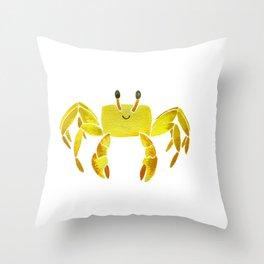 Sand Crab Throw Pillow