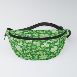Lucky Green Watercolour Shamrock Pattern Fanny Pack