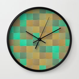 Zig-zag edged felt patchwork II Wall Clock