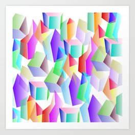 Crystals Art Print