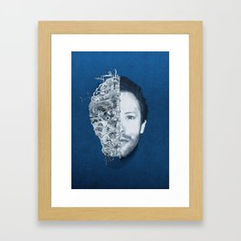 Ghost Face Chris Martin Framed Art Print