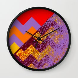 rational meets sparkly irrational Wall Clock