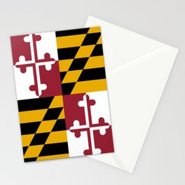 Maryland state flag Stationery Cards
