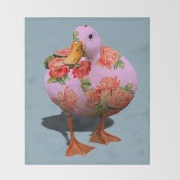 Duck n' Roses Throw Blanket
