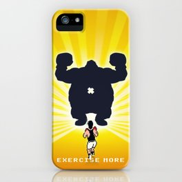 Exercise more. A PSA for stressed creatives. iPhone Case