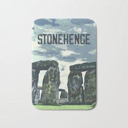 Stonehenge, England / Vintage style poster Bath Mat