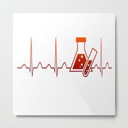 Chemist Heartbeat Metal Print