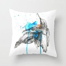 Kingfishers Throw Pillow