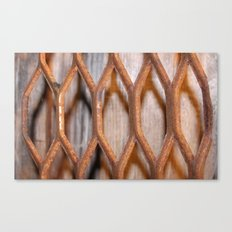 Rusted Steel Faded Wood Canvas Print