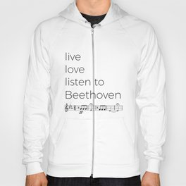 Live, love, listen to Beethoven Hoody