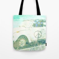 bug Tote Bags featuring ♥ BUG by RDelean