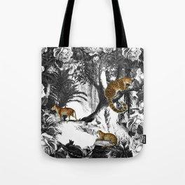 Leopard & Landscape Tote Bag