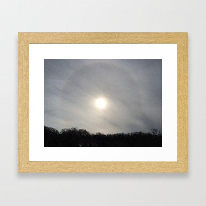 Cloudy Corona Framed Art Print