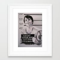 eddie vedder Framed Art Prints featuring Eddie by Lucy Boulton Smith