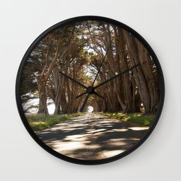 Tunnel of Trees Photography Print Wall Clock