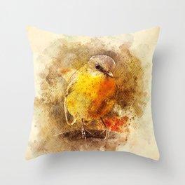 Little Songbird Throw Pillow