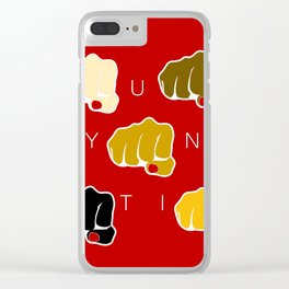Unity - End Racism Clear iPhone Case