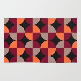 WineRed Squares Rug