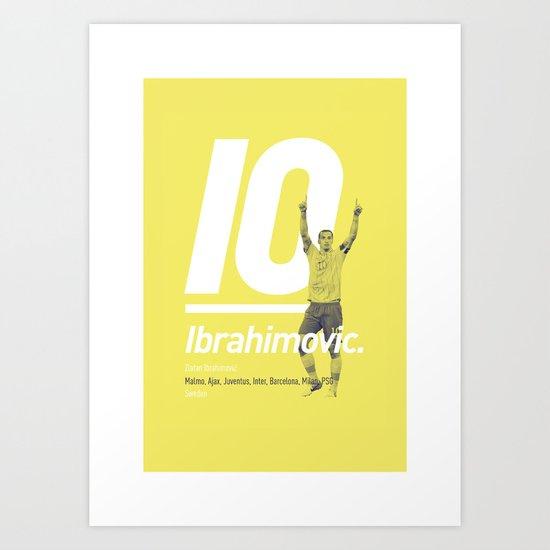 Ibrahimovic Sweden 10 Art Print