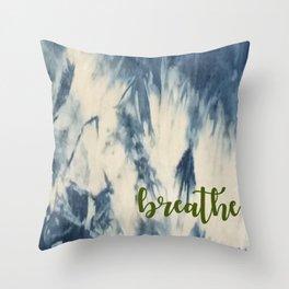 Breathe Indigo Throw Pillow