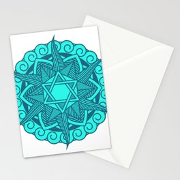 SACRED GEOMETRY METATRONS CUBE Gift For Yoga Lover Stationery Cards