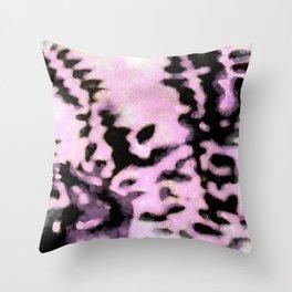 Hazy purplish leaf shadows Throw Pillow