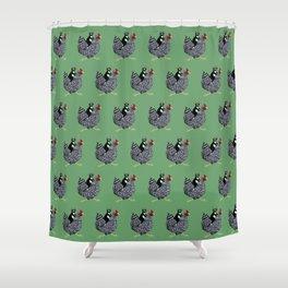 Cat on a Chicken Shower Curtain