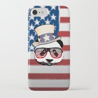 patriotic iPhone & iPod Cases featuring Patriotic Panda by crayzeestuff