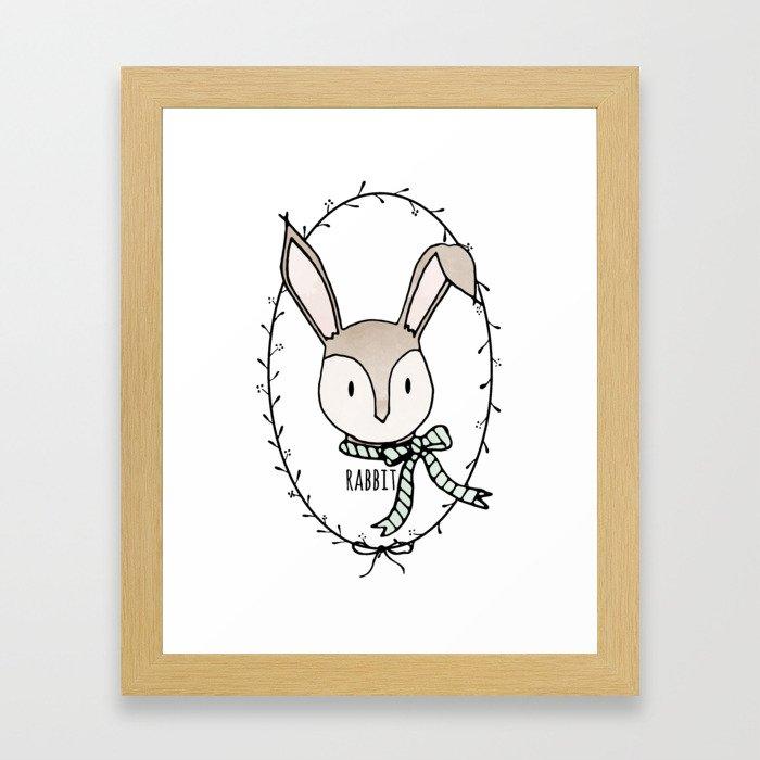 Remarkable Rabbit Framed Art Print