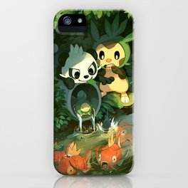 Pancham & Chespin iPhone Case