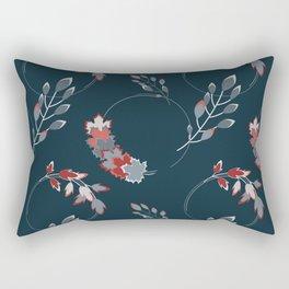 Autumn leaves in circles seamless pattern Rectangular Pillow